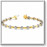 Bracelet Rivière Diamants 2.00 Cts. - Or Jaune et Or Blanc 14K