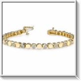Bracelet Rivière Diamants 1.00 Carat - Or Jaune 14 Carats