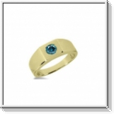0.50 Carat Grand Bleu Diamant Bague 14K Or jaune