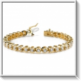 Bracelet Rivière Diamants 2.00 Carat - Or Jaune 14 Carats