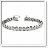 Bracelet Rivière Diamants 2.00 Carat - Or Blanc 14 Carats
