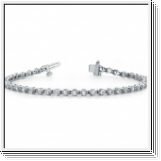 Bracelet Rivière Diamants 2.04 Carat - Or Blanc 14 Carats