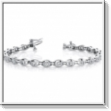 Bracelet Rivière Diamants 1.00 Carat - Or Blanc 14 Carats