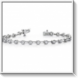 Bracelet Rivière Diamants 1.02 Carat - Or Blanc 14 Carats