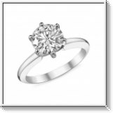Diamond Ring Chicago 0.50 Ct. Diamond 14K or 18K White Gold