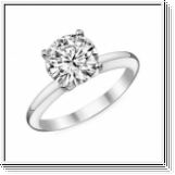 Diamond Ring London 0.50 Ct. Diamond 14K or 18K White Gold