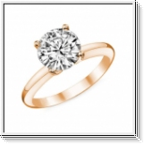 Diamantring Berlin, 1.00 Karat in 585/14K od. 750/18K Rosegold