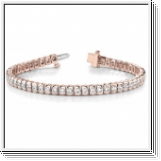 Bracelet Rivière Diamants 1.00 Carat - Or Rose 18 Carats