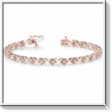 Bracelet Rivière Diamants 1.00 Carat - Or Rose 14 Carats
