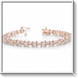 Bracelet Rivière Diamants 2.00 Carat - Or Rose 14 Carats