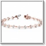 Diamantarmband 3.15 Karat Brillanten in 585 Rosegold