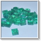 Colombian emeralds princess cut Ø 3.40mm
