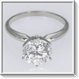 1/2 CT ROUND DIAMOND ENGAGEMENT RING 14K GOLD