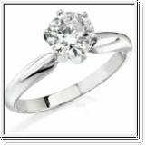 ROUND DIAMOND ENGAGEMENT RING 1/2 CT 14K GOLD