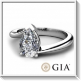 Solitaire 0.50 Ct. D SI1 Blanc Diamant Bague de Or blanc 14K