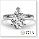 0.50 Ct. D/SI1 PEAR DIAMOND ENGAGEMENT RING 14K GOLD