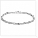Bracelet Diamants (3.00 CTS) Or blanc 14K