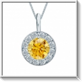 Colgante de diamantes de 0.75 ct diamantes oro blanco 14K