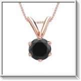 0.50 Carat black Diamond 14K rose gold Pendant