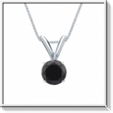 0.50 Carat black Diamond 14K white gold Pendant