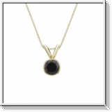 0.50 Carat black Diamond 14K yellow gold Pendant