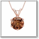 0.25 Carat cognac Diamond 14K rose gold Pendant
