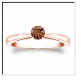 1/4 CT COGNAC DIAMOND ENGAGEMENT RING 14K GOLD
