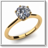 Diamond Ring Manhatten 2.00 Ct. Diamond 14K or 18K Yellow Gold