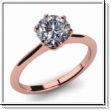 Diamond Ring Manhatten 2.00 Ct. Diamond 14K or 18K Rose Gold