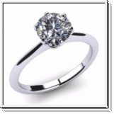 Diamond Ring Manhatten 2.00 Ct. Diamond 14K or 18K White Gold