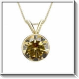 0.25 Carat Solitaire Diamants Pendentif Or jaune 14K