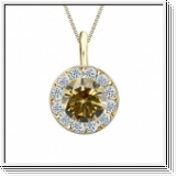 Colgante de diamantes de 1 ct diamantes oro amarillo 14K