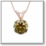 0.50 Carat Solitaire Diamants Pendentif Or rose 14K