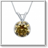 0.50 Carat Solitaire Diamants Pendentif Or blanc 14K
