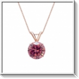 0.25 Carat Solitaire Diamants Pendentif Or rose 14K
