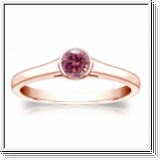 Solitaire 0.25 Ct. rose Diamant Bague de Or rose 14K