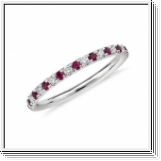 Bague mémorable Ruby Brilliant en or blanc 18K