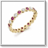 Bague mémorable Ruby Brilliant en or jaune 18K