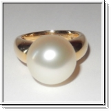 18K yellow gold 12.60mm South sea pearl ring