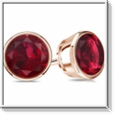 2.00 Ct. Ruby Earstuds - 14K rose gold