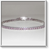 3.50 Ctw. Ruby bracelet 10K white gold