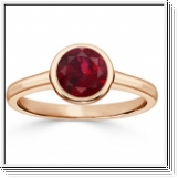1.00 carat ruby ring - 18K Rose Gold