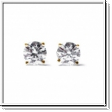 0.25 ctw diamond studs 14k yellow gold - SI1/G