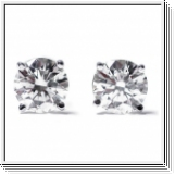 0.25 ctw diamond studs 14k white gold - SI1/G