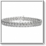 Diamond bracelet - 14K white gold - 4.00 Ctw. Diamonds