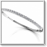 Bracelet Esclave en Or blanc 14 Kt 3.25 ct de Diamants