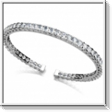 Bracelet Esclave en Or blanc 14 Kt 2.25 ct de Diamants