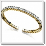 Bracelet Esclave en Or jaune 14 Kt 5.00 ct de Diamants