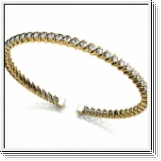 Bracelet Esclave en Or jaune 14 Kt 2.00 ct de Diamants