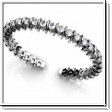 Bracelet Esclave en Or blanc 14 Kt 4.00 ct de Diamants